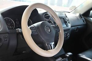 Tan Beige Pvc Leather Diy Steering Wheel Stitch Cover Wrap Needle