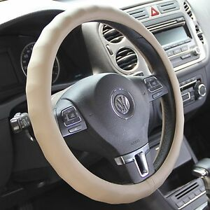 Beige Pvc Leather Car Steering Wheel Cover Slip On High Quality 58003 14 25 15