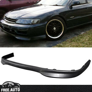 Fit For 94 95 Honda Accord Jdm T R Style Front Bumper Lip Spoiler Black Pp