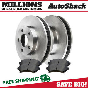 Front 2 Brake Rotors 4 Ceramic Brake Pad For 00 2003 2004 2005 Buick Lesabre