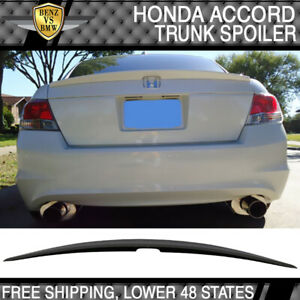 2008 2012 Honda Accord 4dr Oe Style Trunk Spoiler Unpainted Abs