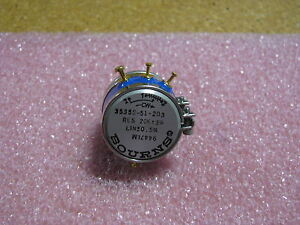 Bourns Variable Resistor 3535s 51 203 20k Res 20k 3