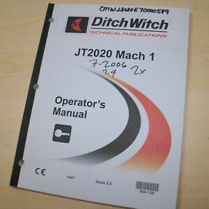 Ditch Witch Jt1220 Horizontal Directional Drill Operation Manual Operator Owner