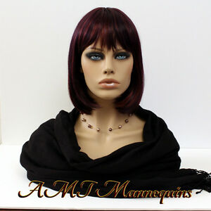 Female Hand Made Mannequin Heads Realistic Looking Life Size Skin Tone Head fo
