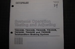 Caterpillar Telehandler Braking System Testing Adjusting Service Manual Repair