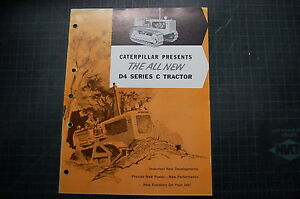 Caterpillar D4c Dozer Tractor Crawler Sales Brochure Vintage Rare Manual Guide