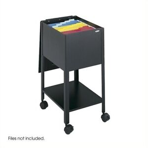 Filing Cabinet File Storage Mobile Letter Size Tub Metal In Black