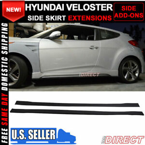 Fits 12 14 Hyundai Veloster Turbo S Style Side Skirts Extensions