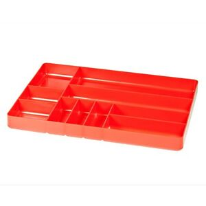 Ernst 5010 11 X 16 Ten Compartment Toolbox Organizer Tray Red