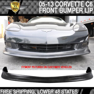 Fits 05 13 Chevy Corvette C6 Coupe Pu Urethane Front Air Dam Bumper Lip Spoiler