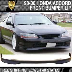 Fits 1998 2000 Honda Accord 2dr Coupe Pp T R Front Bumper Lip Spoiler Body Kit