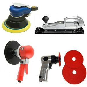 4pc Air Auto Body Sander Set 6 Da 5 Orbital Palm 5 High Speed Straight Line