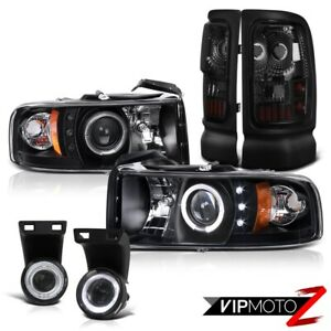 94 01 Dodge Ram 1500 Quad Club Cab Halo Projector Head Lights Led Tail Lamps Fog