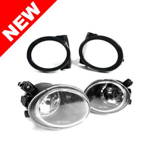 01 06 Bmw E46 M3 Clear Front Bumper Fog Lights W Covers