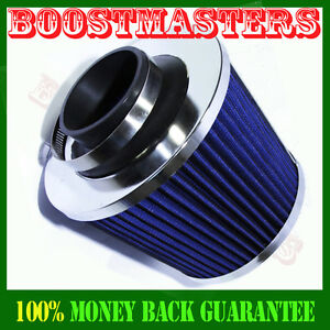 Cold Air Intake Filter Turbo Application Universal For Cars Trucks 2 5 Blue