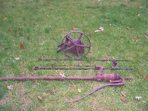 Antique Hit Miss Heller Pump Jack with Pitman Arm And Deming Pump