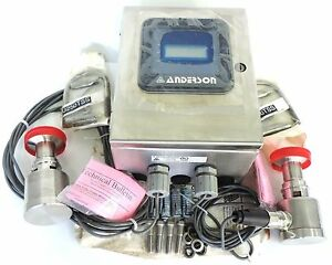 New Anderson Instrument Differential Level Transmitter W Top Bottom Sensors