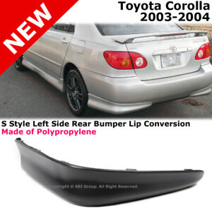 Toyota Corolla 03 04 S Style Rear Driver Lower Body Kit Lip Spoiler Pp Black