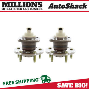 Rear Pair 2 Wheel Hub Bearing Assemblies 5 Stud Fits 2000 2013 Chevrolet Impala
