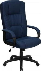 Flash Furniture High Back Navy Fabric Executive Office Chair Bt 9022 bl gg New