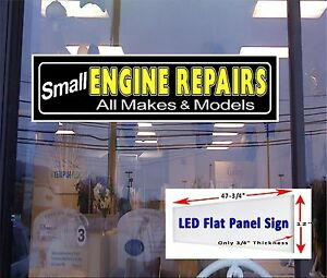 Led Sign Small Engine Repairs Window Sign 48 x12 Neon Banner Alternative