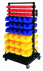 Parts Organizer Rack Bins 90 Seperate Storage Buckets Shop Small Big Nut