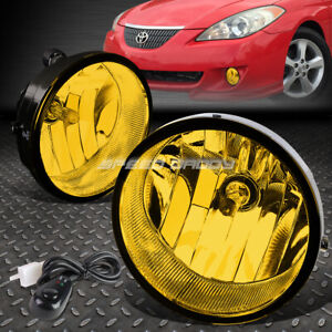 For 05 12 Toyota Tacoma 07 14 Tundra Amber Lens Bumper Fog Light Lamps W switch