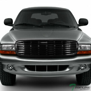 Topline For 1997 2004 Dodge Dakota durango Horizontal Front Bumper Grille Blk