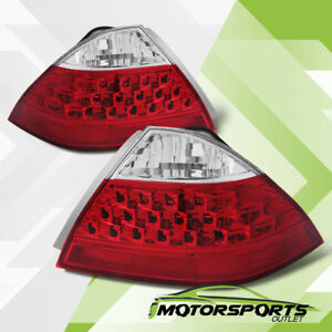 For 2006 2007 Honda Accord Lx ex exl Sedan 4dr Rear Brake Tail Lights Pair
