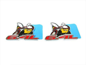 2015 2016 Dodge Challenger 6 4l Fender Scat Pack Badge Emblem Set Of 2 Oem Mopar