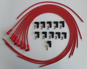 Small Block Chevy 327 350 400 Hei Spark Plug Wires Under Exhaust Red Universal