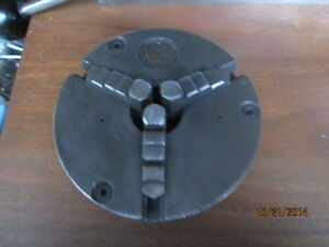 Machinist Lathe Mill South Bend 3 Jaw Self Centering 5 Chuck 1 1 2 Center