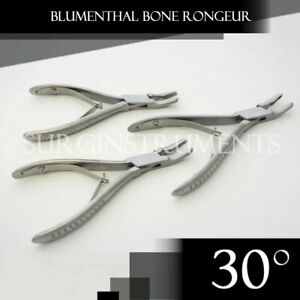 3 Pieces Of Blumenthal Bone Rongeur 30 Degree 4 5 Surgical Dental Instruments