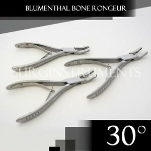 3 Pieces Of Blumenthal Bone Rongeur 30 Degree 5 5 Surgical Dental Instruments