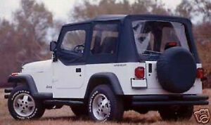 88 95 Soft Top For Half Doors Black New 99615 For Jeep Wrangler