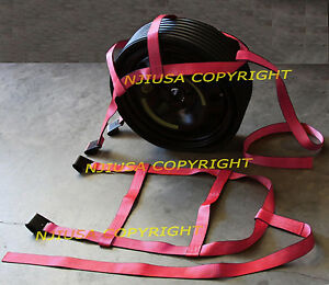 Car Basket Straps Adjustable Tow Dolly Demco Wheel Net Set Flat Hook Px2 Pink
