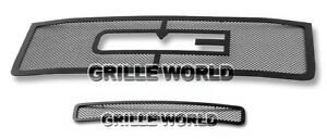 For 2011 2012 Gmc Sierra 2500 3500 Black Stainless Steel Mesh Grille Combo