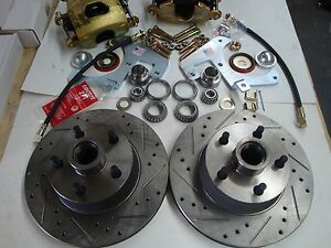1959 1960 1961 1962 Corvette Front Disc Brakes Fits Orig 15 Steel Wheels Xdrill