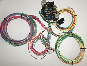 21 Circuit Ez Wiring Harness Chevy Mopar Ford Hotrods Universal X Long Wires