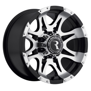 Set 4 17x9 12 8x165 1 8x6 5 Raceline Raptor Black Wheels rims 17 inch 50309