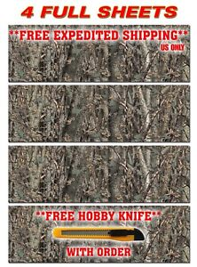 4 Camo Decals Made From 3m Wrap Vinyl 48 x15 Truck Camo Tree Print Camouflage