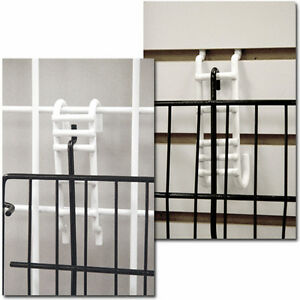 Gridwall Slatwall Shelf Converter Retail Display Fixture Lot Of 100 White New