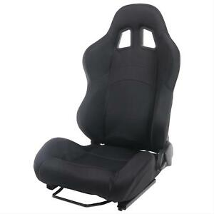 Summit Racing Sport Seat Dial Recliner Black Fabric Cover Driver Side Each