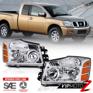 For Nissan 2004 2015 Titan 04 07 Armada Factory Style Front Headlight Lamp L R