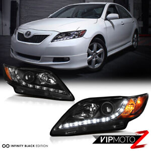 For 07 09 Toyota Camry Newest Led Drl Projector Headlights Headlamp Left Right