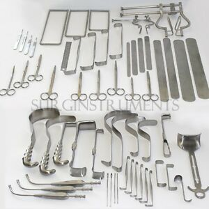 9 Custom Made Surgical Instruments Set Lot
