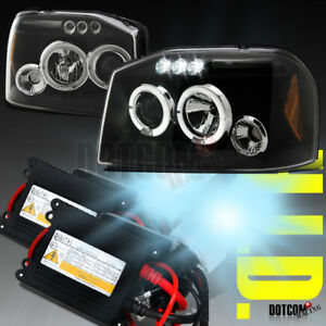 Slim Hid Kit 2001 2004 Fit Nissan Frontier Projector Headlights Black Clear Pair