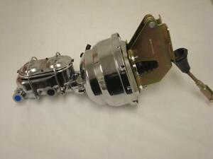 8 Dual Chrome Brake Booster Bail Top Master Cylinder Impala Bel Air Nomad