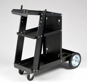 Mig Tig Arc Welder Welding Cart Universal Storage For Tanks Accessories Wheels