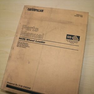 Cat Caterpillar 962g Wheel Loader Parts Manual Book Catalog Front End 4pw Spare